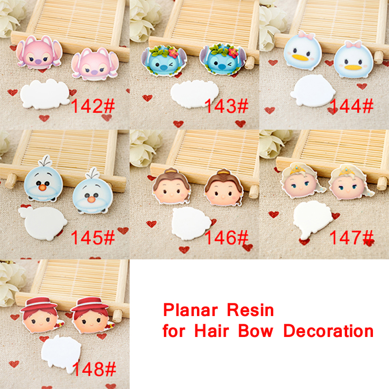 Mixed Japanese cartoon character planar resin flatback 1.2inch 70pcs CRP78