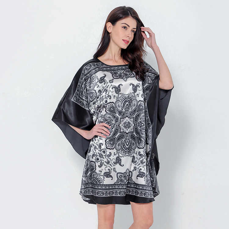 9365a2120c8fb Detail Feedback Questions about Novelty Print Black Female Satin ...