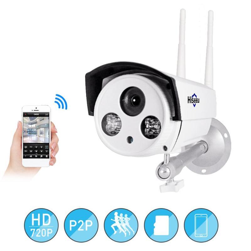 Hiseeu FHJ-12V1A Sans Fil WIFI HD 720 P 1.0MP P2P IP Caméra IP65 Réseau Étanche de Sécurité de Surveillance enregistreur vidéo Webcam