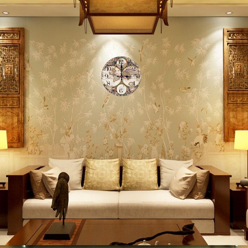 New fashion wall clock wooden clocks Quartz watch Europe home decor ...