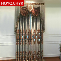 Royal Aristocratic Classic European High Quality Embroidery Curtains For IvinLg Room High End Villa Luxury Curtains