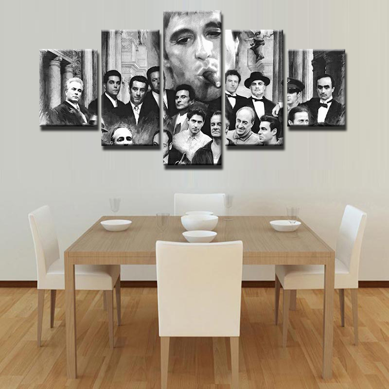 5 Pieces Godfather Modern Home Wall Decoration Canvas Picture Art HD ...