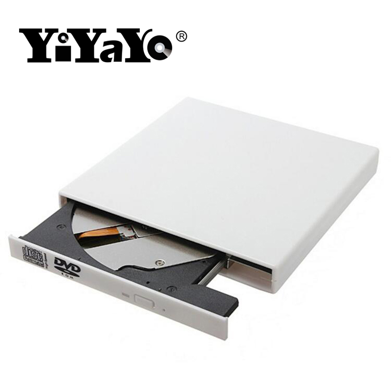 YiYaYo External USB 2.0 DVD Optical Drive Combo CD-RW Burner DVD/CD-ROM Player Portatil For Laptop Windows 7/8/10 MAC OS