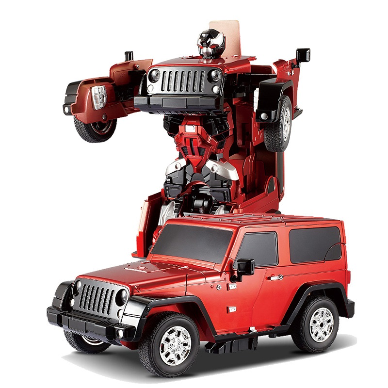 free shipping jeep reg car models deformation robot transformation remote control rc car toys for children kids gift tt665