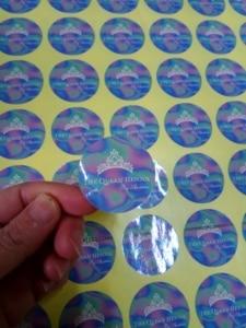 Image 2 - 30 MM okrągły/kwadratowy niestandardowy projekt połysk/matowy laminowane w pełnym kolorze normalny papier przylepna etykieta drukowania 500 sztuk/partia