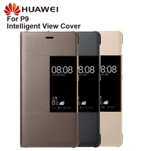Original Huawei Smart Phone Case Clear View Cover Flip For P9 Housing Sleep Function intelligent