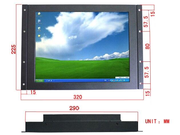 Xintai Touch 12 pollice Metallo Open Frame Monitor Touch Screen Industriale Saw monitor touch screen, un anno di garanzia