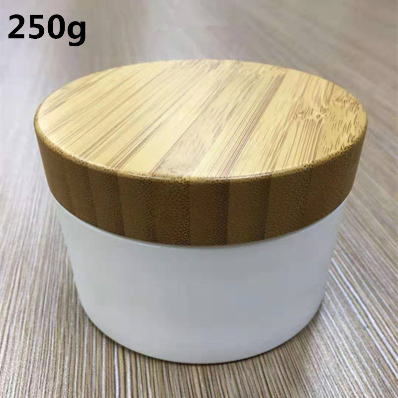 250g Bamboo Container Plastic Wood Cream Jar, Cream Jars Cosmetic Packaging Empty Bamboo Plastic Cosmetic Jar With Lid Reuse