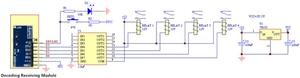 Image 5 - 433 mhz مستقبل ترددات لاسلكية التعلم رمز فك وحدة 433 mhz اللاسلكية 4 قناة الناتج diy عدة للتحكم عن بعد 1527 ترميز