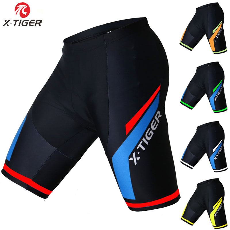 X-Tiger Coolmax 5D vadderade cykelshorts Shockproof MTB Cykel Shorts Road Bike Shorts Ropa Ciclismo Tights för man kvinnor