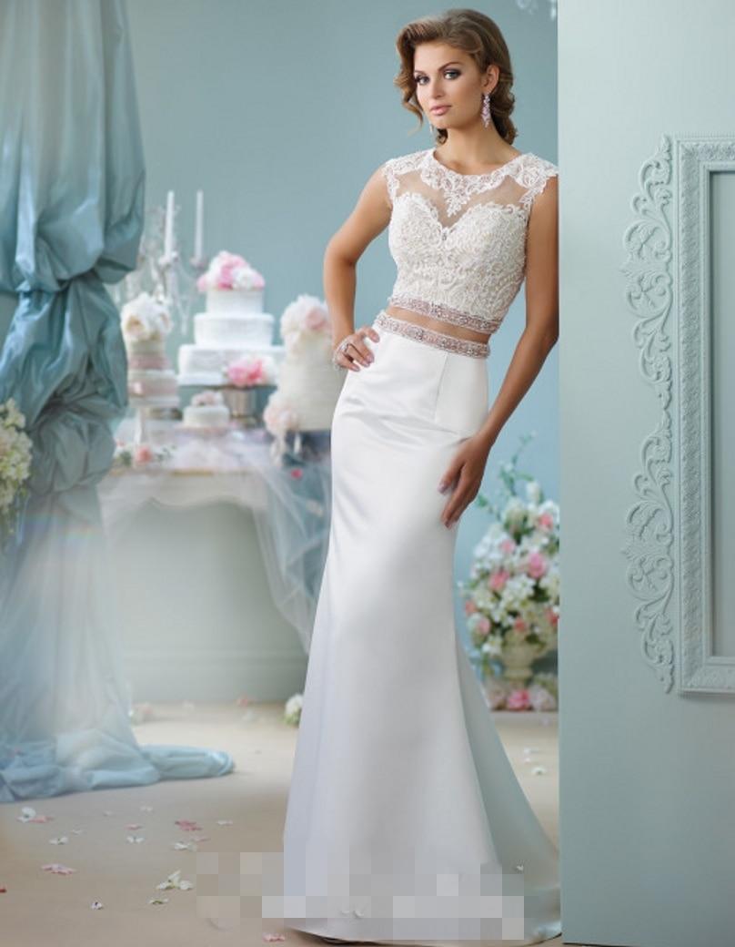China 2 Piece Wedding Dresses Sexy Lace Wedding Dress 2016 Vintage ...