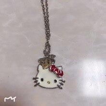 8399f5f15 2019 Siywina Girls Jewelry Fashion Crystal Hello Kitty Necklace WOMEN Pendant  Necklaces Rhinestone Statement Necklace Red