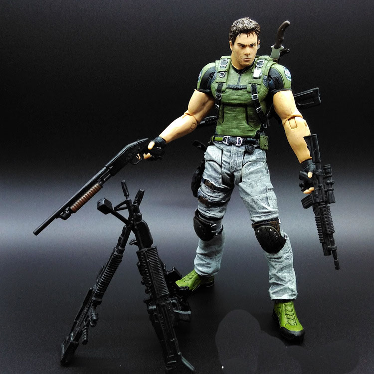 Resident Evil Retribution Chris Redfield PVC 19cm Cartoon toys Collectible Model christmas gift toys