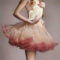 New Puff Tulle Skirt Ball Gown Short Tutu Women Petticoat Cosplay Dance Underskirt 40CM Faldas Saia Mini Jupe Femme Pettiskirt