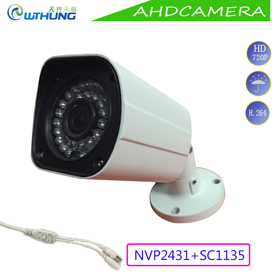 1.0MP 720P AHD Bullet Camera 1/3 CMOS module OSD Motion Cam outdoor waterproof IR Night Vision for security cctv montior cameras wistino cctv camera metal housing outdoor use waterproof bullet casing for ip camera hot sale white color cover case