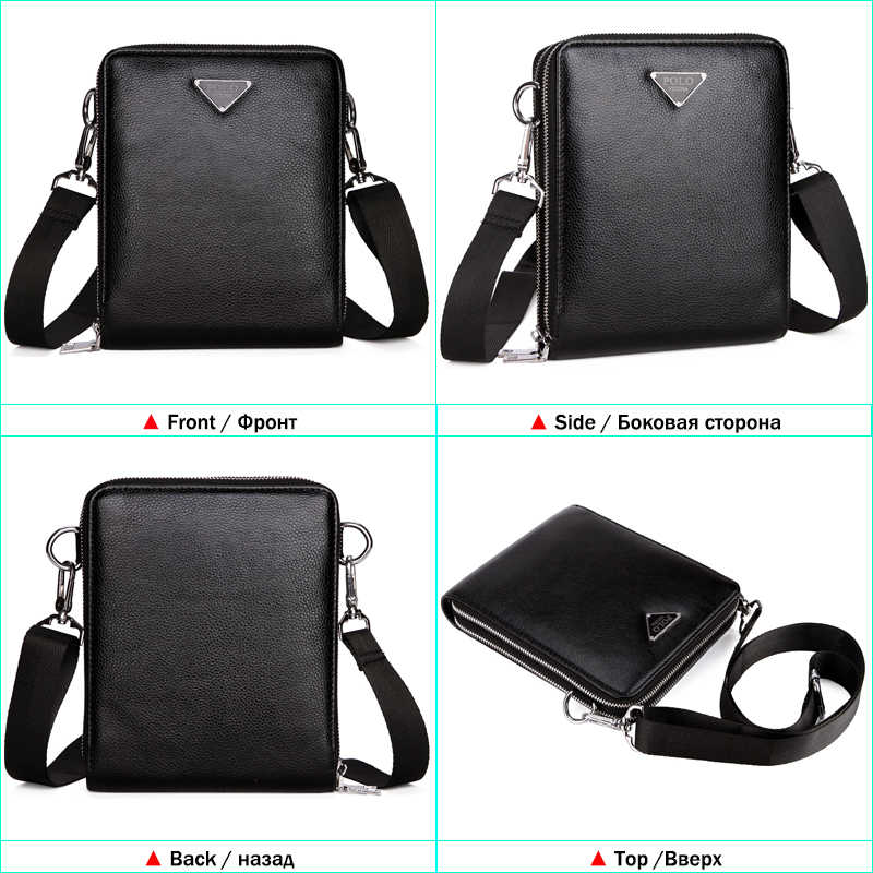 063fb43219 ... VICUNA POLO Luxury Brand Bags Leather Men s Single Shoulder Bag Double  Pocket Men Bags Men Casual ...