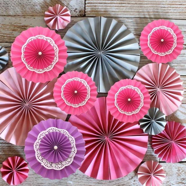 25cm Multi Layer Paper Fans Wedding Backdrop Reception Decoration Birthday  Party Supplies Valentineu0027s Day Decoration