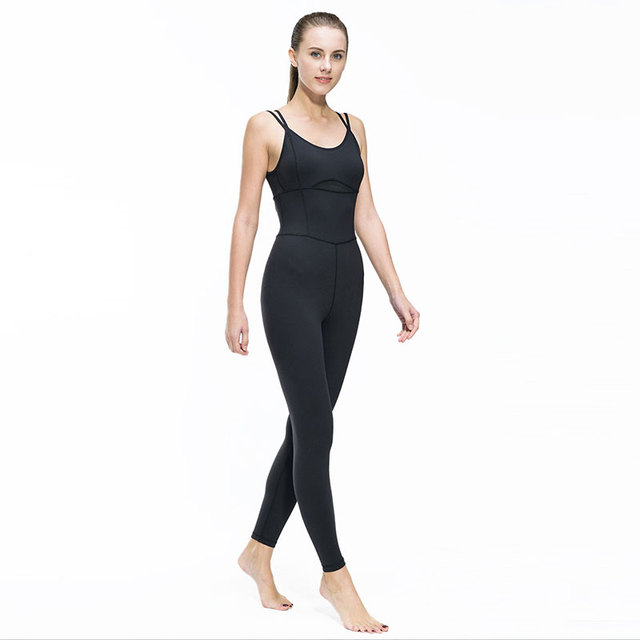 Yoga Jumpsuit Gym Running Sports Suit Lady Tight Clothing Breathable Quick Dry Sportswear Sets Patchwork Tracksuit 3