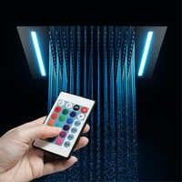 HIDEEP Fernbedienung LED Showerhead Einbau Decke Montiert Regen Dusche Köpfe 16 Farben Embedded Top Über-Köpfe 304SUS