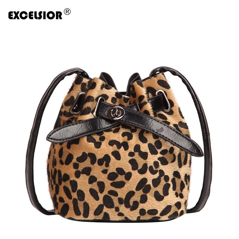 Women's Bags Leopard Print Crossbody Bag Bucket Handbags Bags Designer G2065