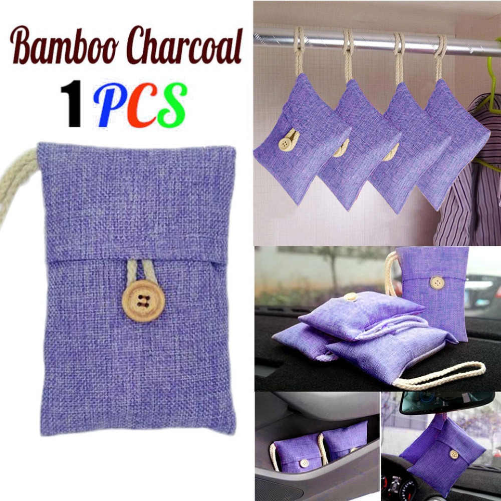 New Room Luggage Bamboo Charcoal Bag Closet  Car Bamboo Charcoal Activated Carbon Air Freshener Odor Deodorant  Children@15