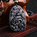 Black dragon phoenix whiskers hand up baylor jade Buddha pendant natural way women man jewelry rope for delivery