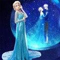 Снег Эльза Королева Женщины Dress Косплей Костюм Партии Необычные Платья Девушки Синий Длинный Макси Dress Хэллоуин Костюмы Для Женщин