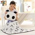 Panda de pelúcia qualidade coral fleece cobertor travesseiro almofada de pelúcia brinquedo do bebê portátil crianças Brinquedo de presente da menina frete grátis Triver
