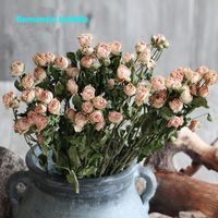5 Sztuk Naturalne Suszone Kwiaty Róże Home Hotel Decor Floral DIY Akcesoria Naturalne Roślin Kwiat Organizujący Dla Derecoting