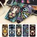 Marca animales león lobo owl patrón duro phone case para el iphone se 5S 6 6 s 7 más brillan en la oscuridad luminosa bosque rey case