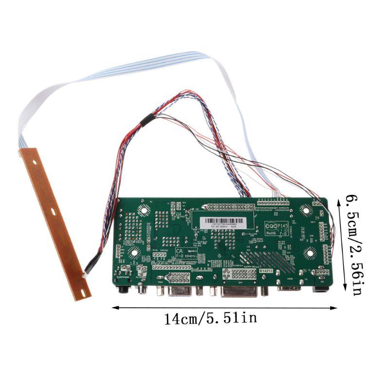 "Image 3 - Плата контроллера ЖК дисплей VGA, HDMI, DVI аудио ПК Драйвер модуля DIY Kit 15,6 ""Дисплей B156XW02 1366X768 1ch 6/8 bit 40 Pin Панель-in Сменные детали и аксессуары from Бытовая электроника"