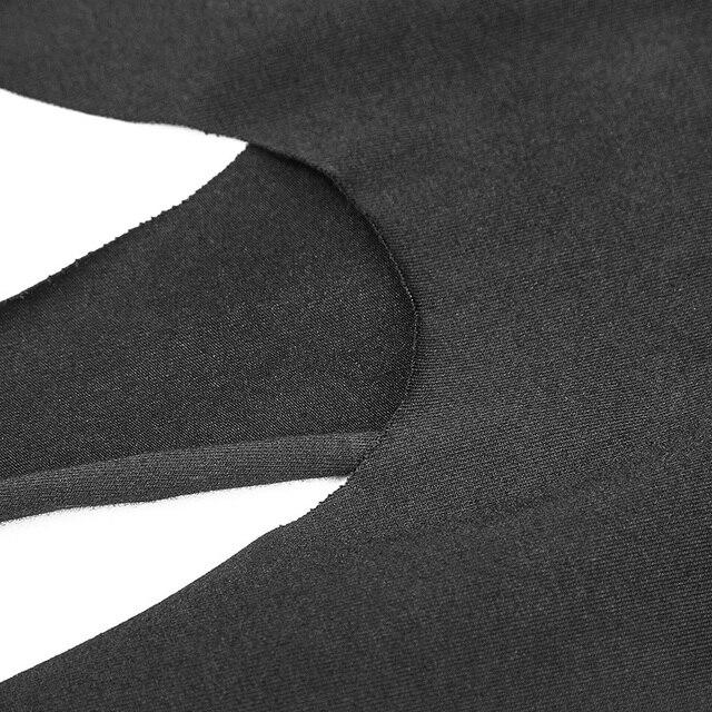 Fashion Irregular Hem Dress Gothic Proper Segmentation Showing Proportion Of Stature Hollow Shoulder Dress PUNK RAVE OPQ-316LQF 4