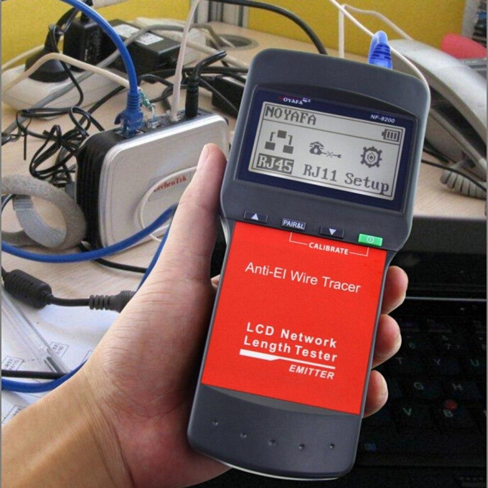 Noyafa LAN RJ45 testeur de câble réseau Ethernet testeur de longueur de câble avec écran LCD rétro-éclairage - 2