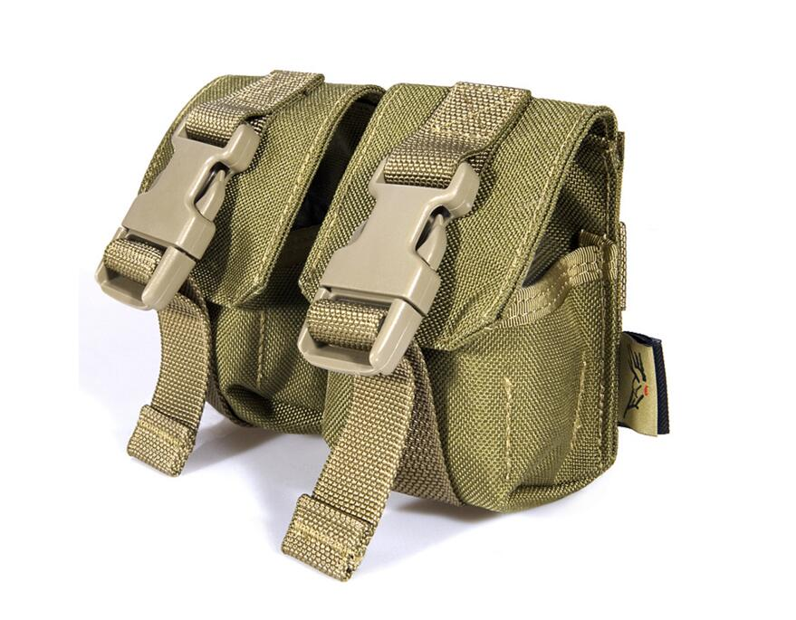 FLYYE MOLLE Doppel Fragmention Granate Pouch Military camping wandern CORDURA G005