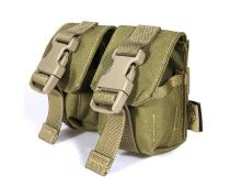 Free shipping In stock FLYYE genuine MOLLE  Double Fragmention Grenade Pouch Military camping hiking CORDURA G005