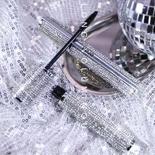 HOJO блестящая Алмазная тушь для ресниц, удлиняющая, быстро сохнет, хорошее качество, длинные черные ресницы, 3D макияж для глаз