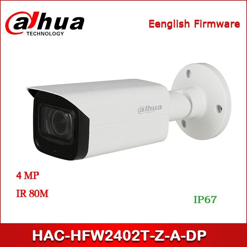 Güvenlik ve Koruma'ten Gözetim Kameraları'de Dahua HAC HFW2402T Z A DP 4MP Starlight + HDCVI IR bullet kamera 3.7 11mm motorlu lens dahili mikrofon güvenlik kamerası