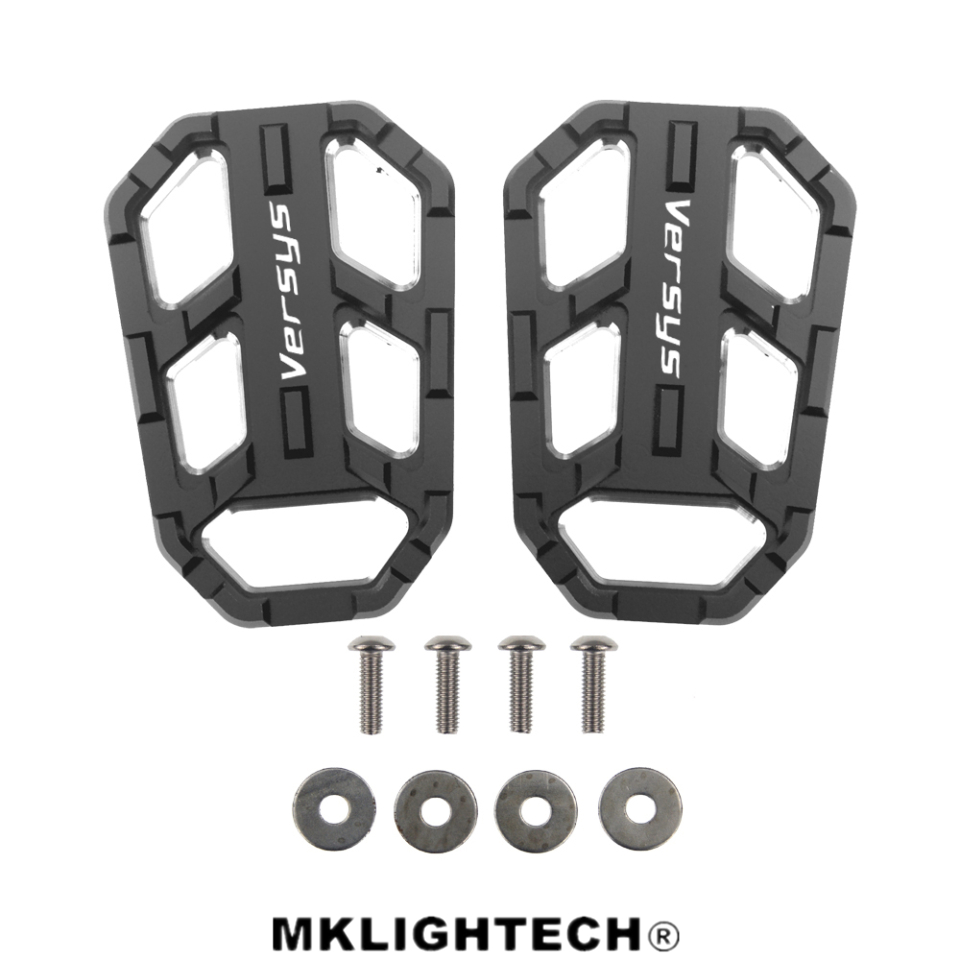 MKLIGHTECH Motorcycle Accessories FOR KAWASAKI Versys 650 2010-2019 NC Aluminum Alloy Widened Pedals