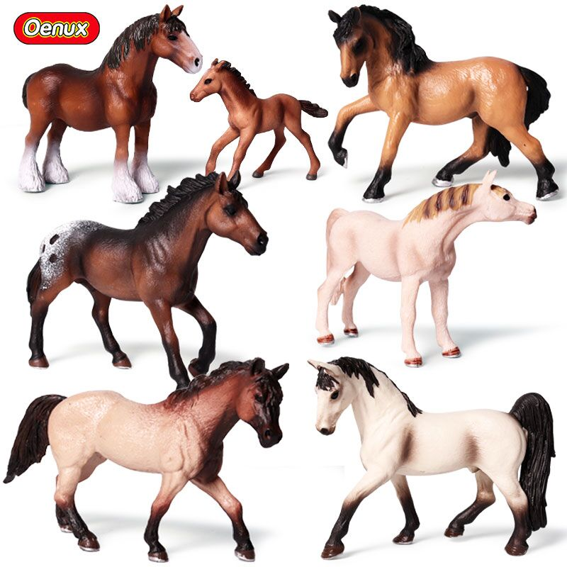 Oenux Original Genuine Simulation Animals Model Horse Action Figures Wild Steed Figurines PVC High Quality Toy For Kid GiftOenux Original Genuine Simulation Animals Model Horse Action Figures Wild Steed Figurines PVC High Quality Toy For Kid Gift