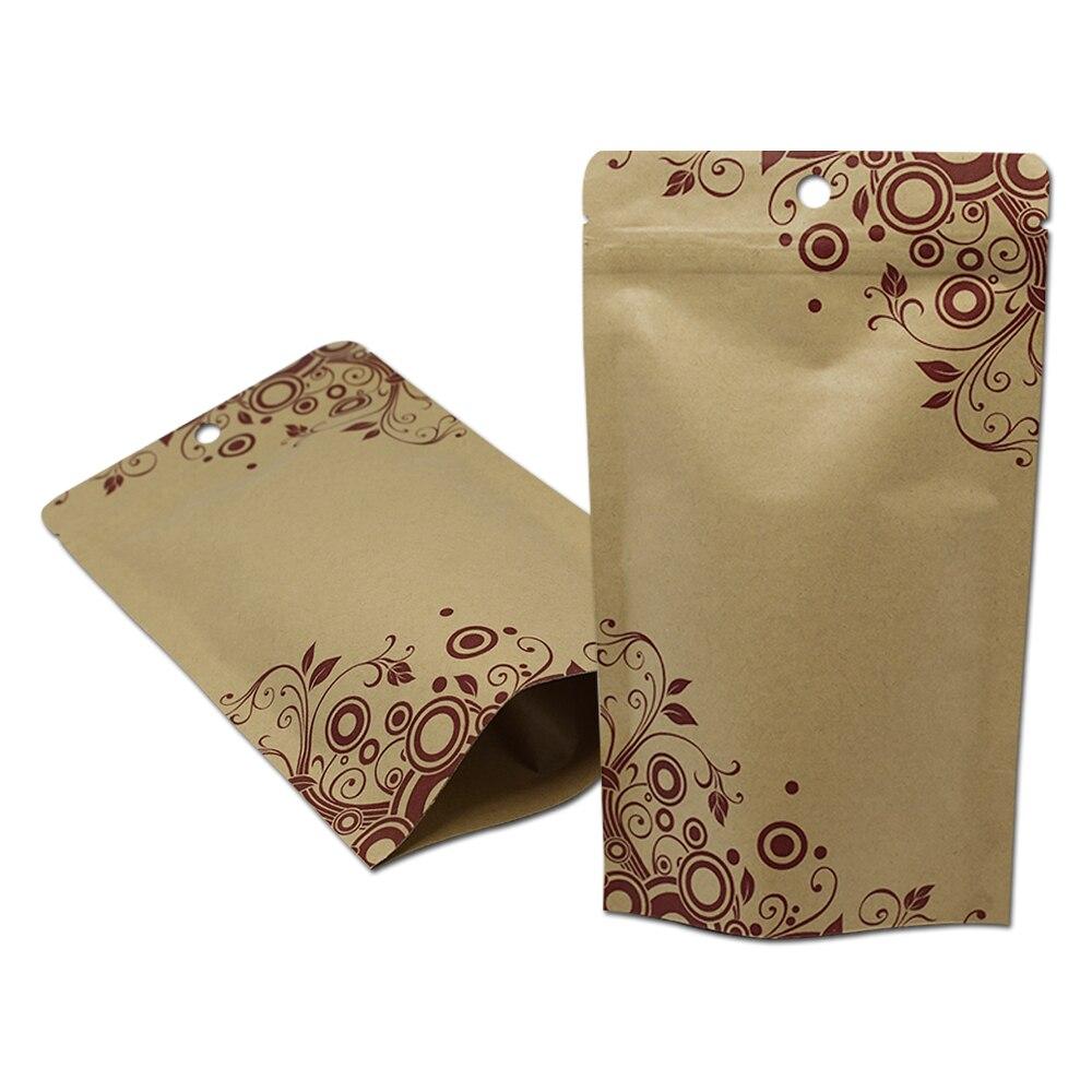 Tenez les sacs de paquet de tirette de papier Kraft de papier d'aluminium pour le stockage de noix de café
