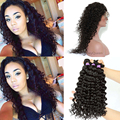 360 Lace Frontal With Bundle 8A Brazilian Deep Wave Virgin Hair With Closure 360 Lace Frontal Closure With Bundles Pre Plucked