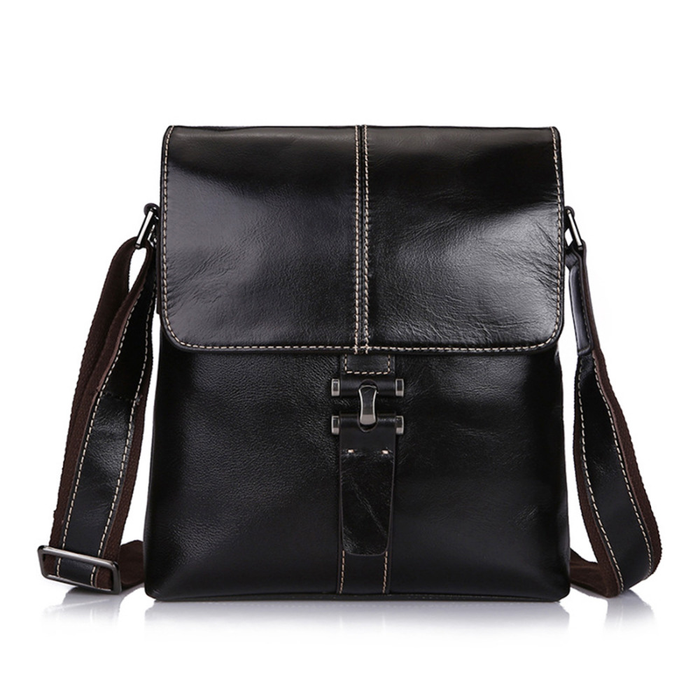 ФОТО First Layer Cowhide Shoulder Messenger Briefcase Vintage Male Genuine Real Leather Hand Cross body Business Trend Bag New