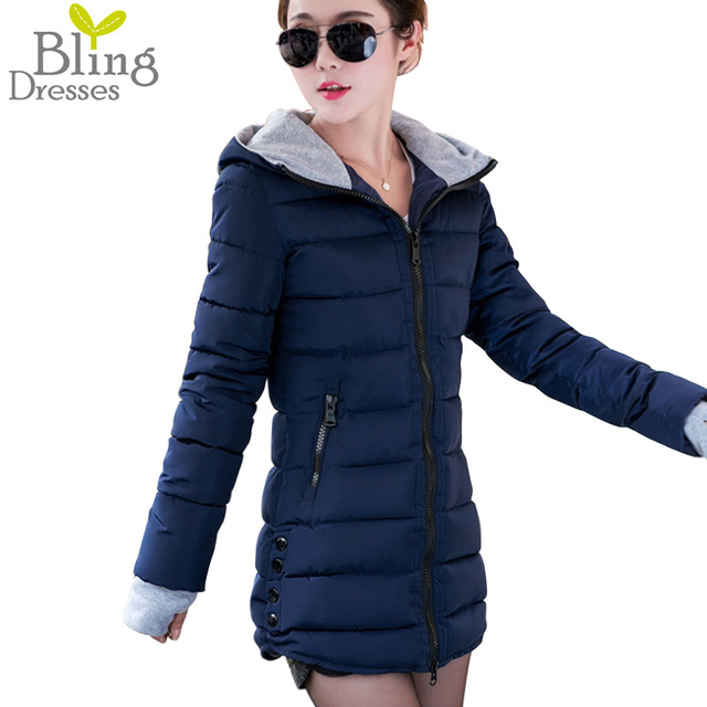 Plus Size 3XL Parkas Winter Coats 2016 Women Thickening Hooded Winter Jacket Slim Fit Long Down Cotton Coat Parka