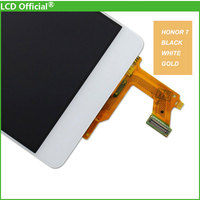 10PCS Free DHL 100 New Digitizer Glass Panel For Huawei Honor 7 LCD Display Touch Screen