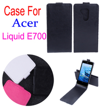 Business Old School Phone Bag For Acer Liquid E700 E 700 Leather Flip Vertical Book Case For Acer E700 Retro Cell Phone Cover