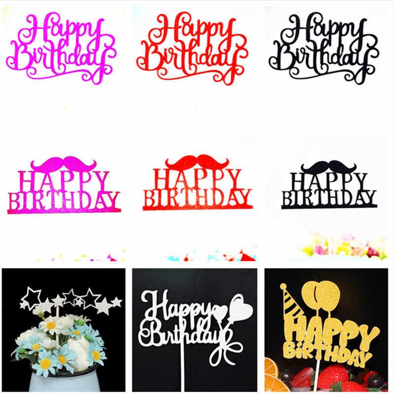 Счастливое украшение для именинного торта 1-й День рождения мальчик кекс anniversary юбилей распродажа украшения для детского душа черный торт Топпер день рождения