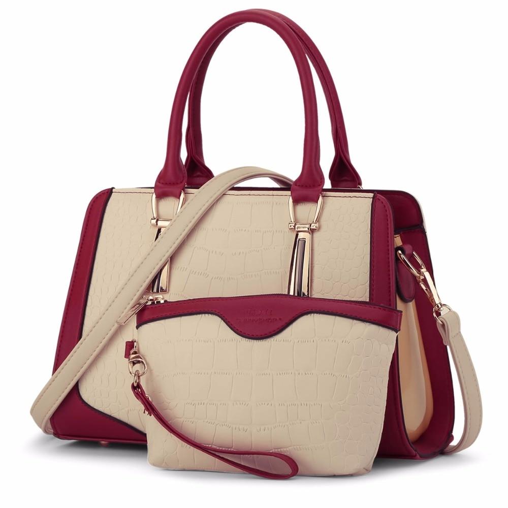 GUR283 luxury crocodile women bags handbags women famous brands shoulder bag and purses set designer leather