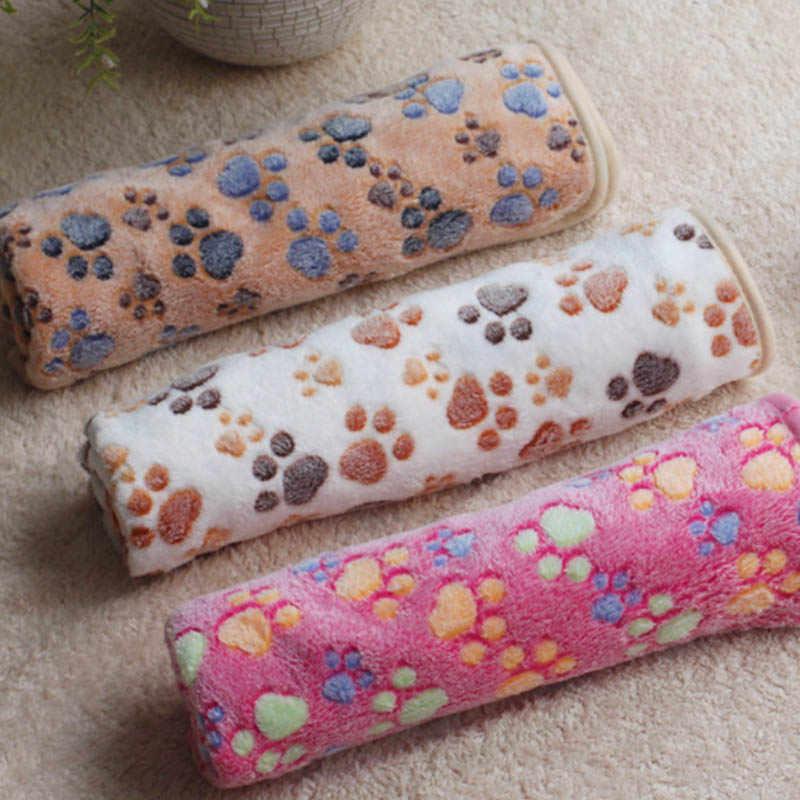 3 цвета милый цветочный питомец спящий теплый лапа принт собака кошка щенок флисовое мягкое одеяло собака кровати коврик 40X60 см
