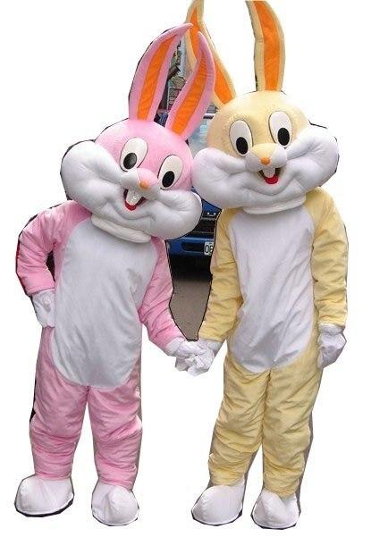 2010 Newest Cute Version Yellow Bugs Bunny Mascot Costume Cartoon Mascot Character Costume Free Shipping
