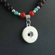 2016 Classic Stone 18mm metal snap button necklaces woman bohemian necklaces & pendants Beads Women's neck NE412 one direction strollgirl classic necklaces